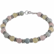 Amazonite, Aragonite, and rose Quartz Beads with Sterling Silver Bali Beads