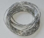 shiny silver colour multi bangle set(25 bangles in one), amazing jewellery from india