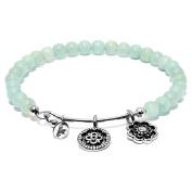 """Chrysalis """"Happiness"""" Amazonite Expandable Bangle Bracelet"""