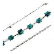 Sterling Silver and Turquoise Trio Bracelet set