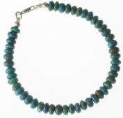 Sterling Silver Turquoise Bead Bracelet