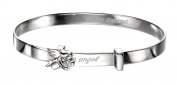 Silver Angel Bangle for Girls by D for Diamond