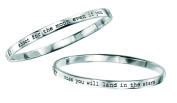 Elements Sterling Silver Ladies B3815 Shoot For The Moon Bangle, Diameter 6.88 X 5.94cm