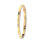 9ct yellow gold patterened expandable baby bangle