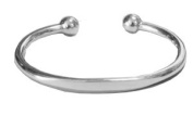 Mens Solid Silver Heavy Identity Torque Bangle -Gift Boxed