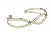 Sterling Silver Hammered Twist Bangle