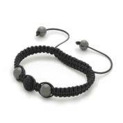Bling Rocks Celebrity 'Night Star' Black Czech Crystal Disco Ball/Haematite Shamballa High Quality Bracelet