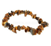 Tiger Eye Gemstone Chip Bracelet