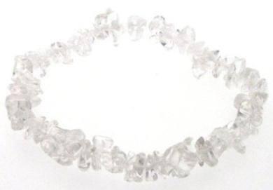 Quartz / Rock Crystal Gemstone Chip Bracelet