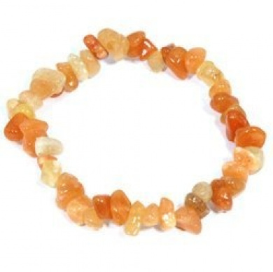 Carnelian Gemstone Chip Bracelet