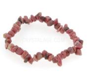 Rhodonite Gemstone Chip Bracelet
