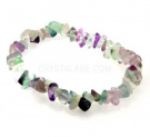 Fluorite Gemstone Chip Bracelet