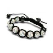 White Unisex Crystal Shamballa Bracelet