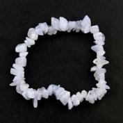 Blue Lace Agate Gemstone Chip Bracelet