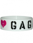 Lady Gaga Heart Rubber Wristband