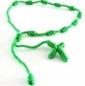 Green decenarios rosary bracelet,. Decenarios rope bracelet. Rope cord bracelet