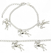 Silver Horse Charm Bracelet