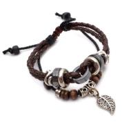 K Mega Jewellery Vintage Multi Strand Leather Surf Mens Womens Bracelet Adjustable B617