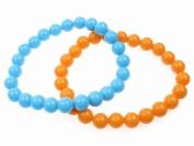 Glitz4Girlz Beaded Bracelet - Blue/Orange