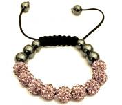 Baby Pink Crystal Shamballa Bracelet