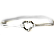Hippy Silver HEART Friendship Karma Wish Hope Love Peace Bracelet Cord Boho [WHITE]