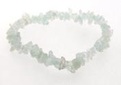 Aquamarine Crystal Gemstone Chip Bracelet