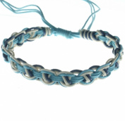 Sea colour surfer natural cotton braided string anklet bracelet no beads B2