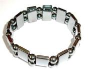 Hematite Gemstone Stretch Bracelet - Spheres