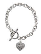 Code Red Crystal Heart Bracelet