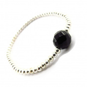 "'french touch' bracelet ""Minéralia"" black."