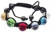 Multi-Coloured Crystal Glass Bracelet