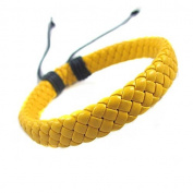 Jirong Fashion Adjustable Leather Cotton Rope Woven Bracelets Mens Bracelet Cool Bracelet Jewellery Cuff Bracelet Sl0288-1