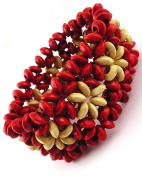 Jewellery Of The Planet Berry Red Stretchy Beaded Ethnic Bracelet