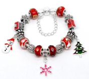 Handmade Beautiful Christmas Bracelet with Red Gift Box by libbysmarketplace