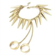 Bling Online Spike Bracelet Ring Combo.