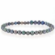 Genuine Freshwater Cultured Black Pearl 5mm Stretch Bracelet