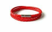 buckle bracelet woven bracelet girls bracelet women bracelet made of red leather woven cuff bracelet SL2302