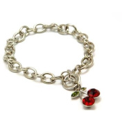 The Olivia Collection Red Crystal Cherries Bracelet