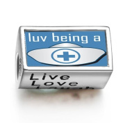 SoufeelonlineLove Being A Nurse Words Live Love Laugh Bead Charm Fit Pandora Chamilia Biagi beads Charms Bracelet