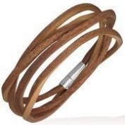 Urban Male Mens Brown Leather Cord Style Wrap Bracelet