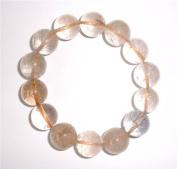 Large Rutilated Gemstone Crystal Power Bracelet