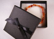 Red Agate Crystal Nugget Bracelet - Gift Boxed