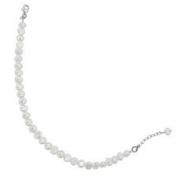 Freshwater Pearl Bracelet With Sterling Silver Clasp Adjustable In Length 7-20cm .