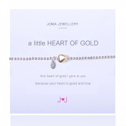 A Little Heart Of Gold Bracelet Silver Plated By Joma Jewellery