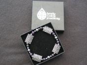 Beady Celtic Bracelets Celtic Design Pewter Pillows And Amethyst Bracelet