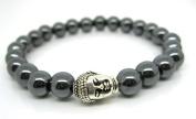 Mens Hematite Buddha Bracelet