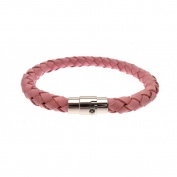 Alraune Lapidaris Pink Plaited Leather Bracelet