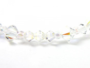 Handmade Jewellery - Crystal Bracelet made with. Elements - Clear AB 6mm & 4mm Crystals & Includes Gift Box