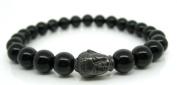 Mens Black Onyx Tibetan Buddha Bracelet - Spiritual Bracelet For Men