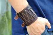 Antique Men's Brown Leather Cuff Bracelet, Leather Wrist Band Wristband Handcrafted Jewellery Sl2433